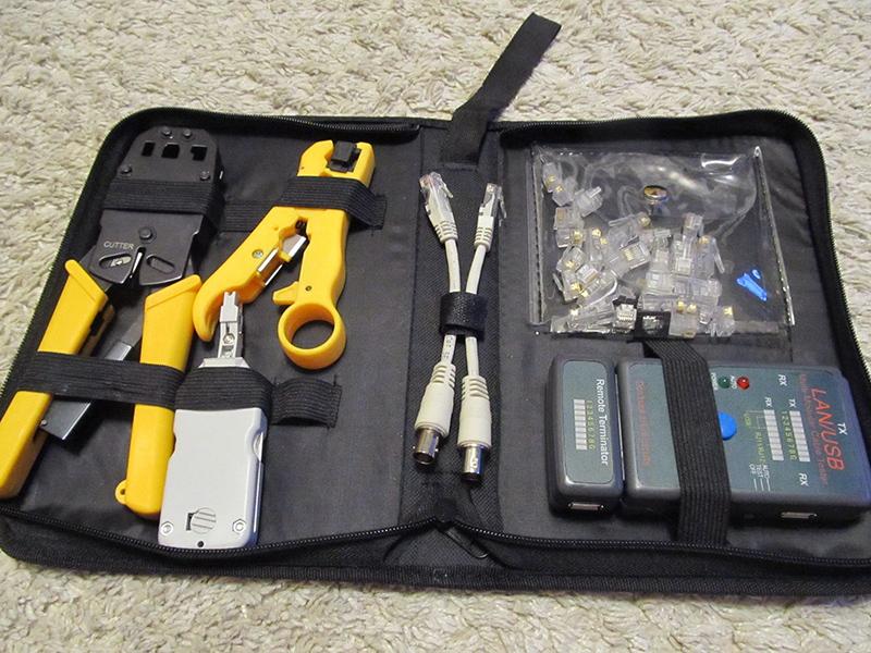 Набор инструментов для обжима витой пары